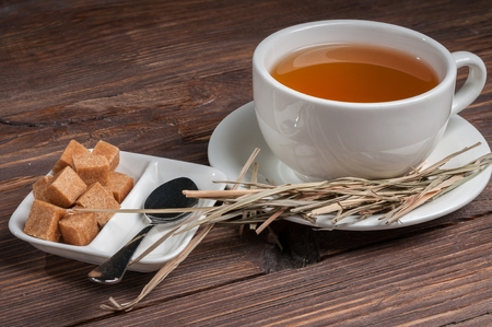 tea with lemongrass Stock Photo
