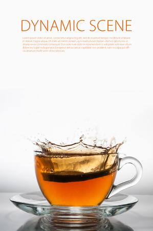 Green tea with lemon photo