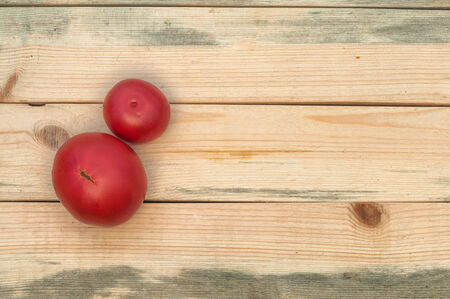 tomatoes on table Stock Photo