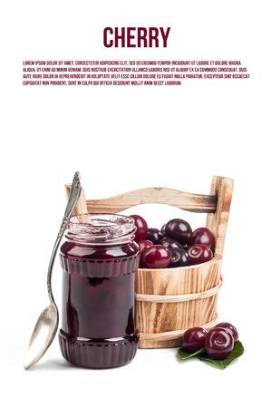 cherry on white Stockfoto