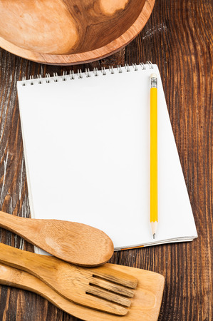 notebook on the kitchen table