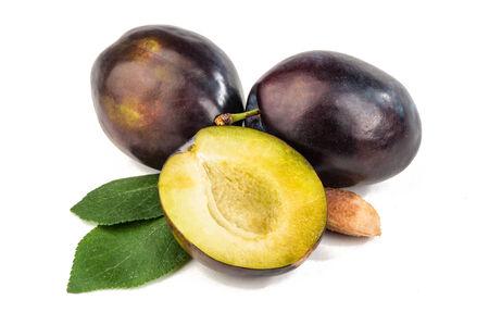 plum isolated on white background