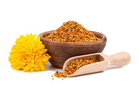 Honey pollen isolated on white background Archivio Fotografico