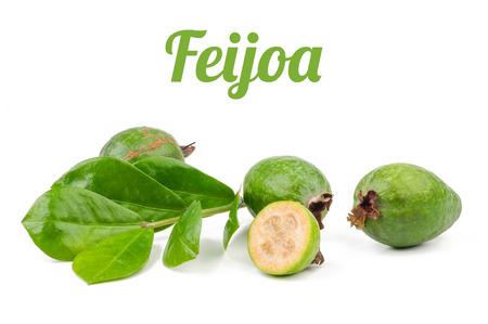 feijoa: Feijoa isolated on white background