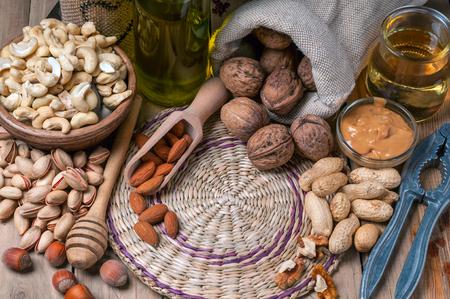 Nut still life closeup