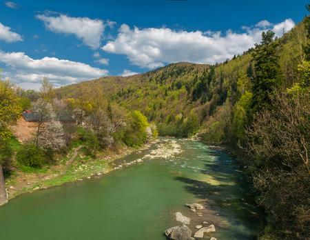 Carpathian mountain rivers
