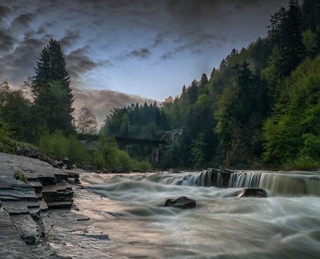 Carpathian mountain rivers photo