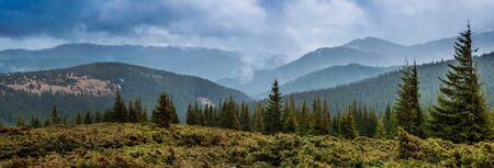 Carpathian mountains foot of the mountain Goverlyanka Stock Photo