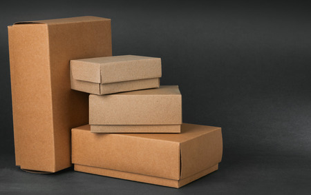 Boxes on gray background