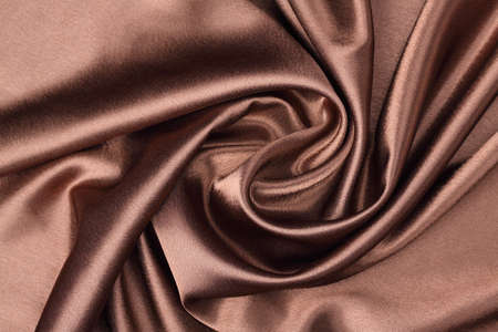 luxurious brown satin made rose Stock Photo
