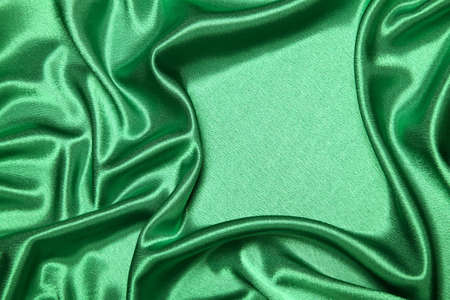 luxurious green satin