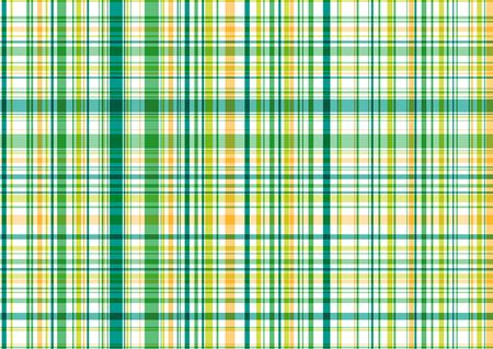 illustrated green and yellow plaid pattern - background suitable for all usage