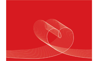 LOVE LINES white on red - illustrated graphics  Vector