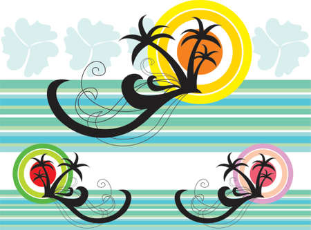 Tropical Holiday Splash - illustrated graphics   Vector