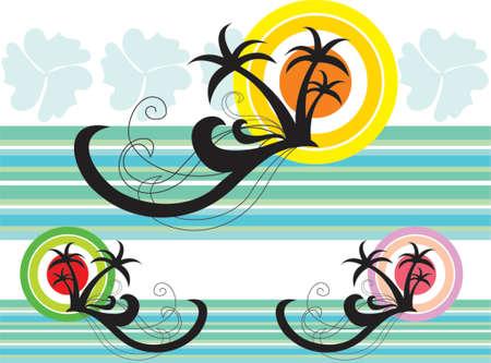Tropicale de vacances Splash - illustr� graphiques