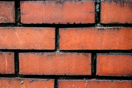 old red brick wall grunge photo