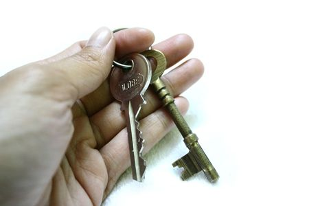 hand holding a set of keys Stock Photo - 1350192