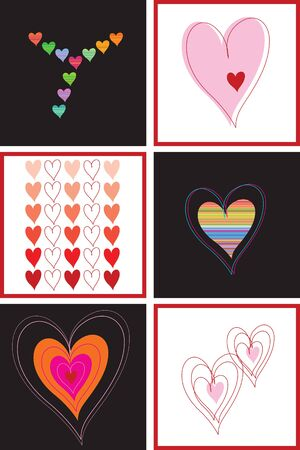 hearts and love (vector) - illustration Vector
