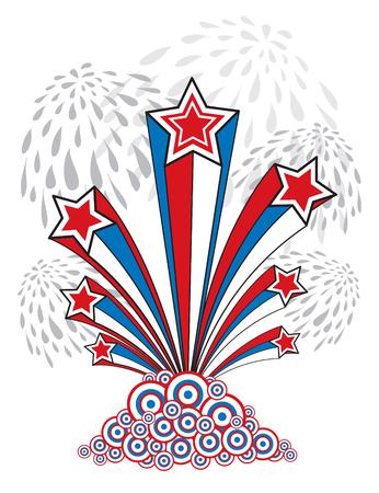 4th of July USA (vector) - illustration Vector
