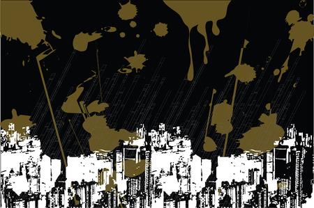 industriel urbain sale grunge vert sur noir (vecteur) - illustr� de fond Illustration