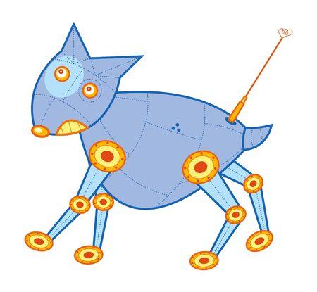 mojo the robot mousedeer - cartoon illustration Stock Vector - 1415318