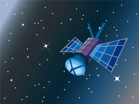 void: satellite in space (vector) - illustration