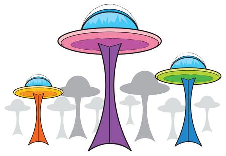 Exóticas espacio centro (vector) - dibujos animados