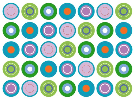retro turquoise disc (vector) - illustrated background Vector