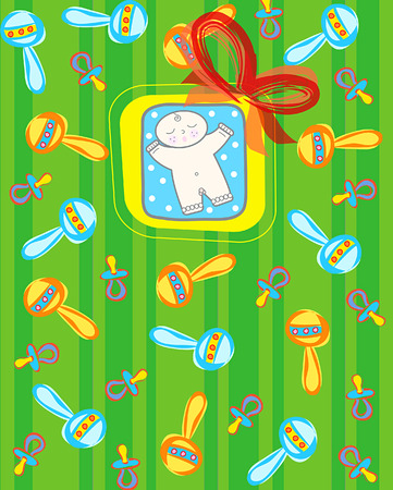 its a baby boy! (vector) - light skin tone baby boy  illustration Vector