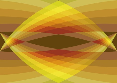 retro yellow and brown bridge abstract (vector) - illustrated background pattern Stock Vector - 1476971
