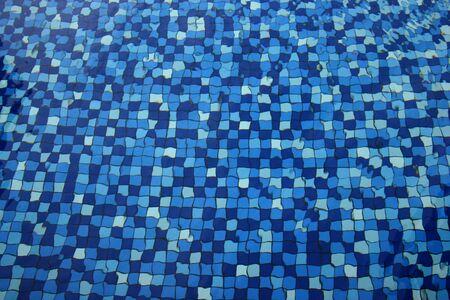 swimming pool mosaic tiles - detail Stock Photo - 1557362