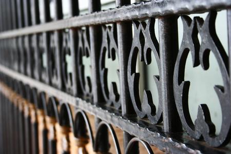 black iron metal grille - detail photo