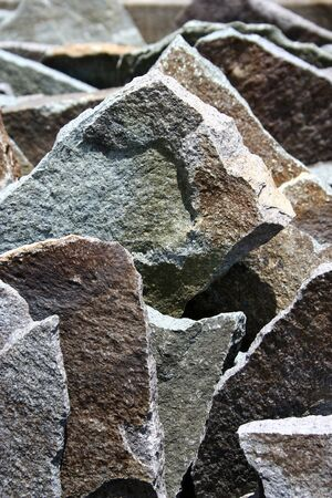 jagged: jagged grunge stone slabs Stock Photo