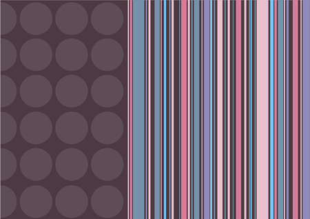 coffee dots and pink stripes (vector) - illustrated background with copy space Illustration