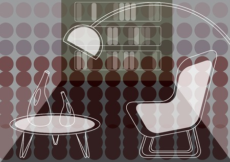 purple dots lounge (vector) Vector