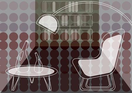 Violet dots salon (vecteur)  Illustration