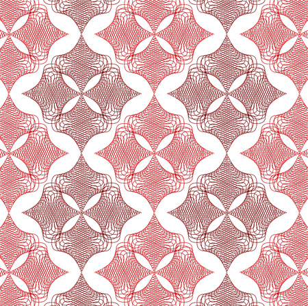 red twist diamond lace pattern on white Stock Vector - 1815914