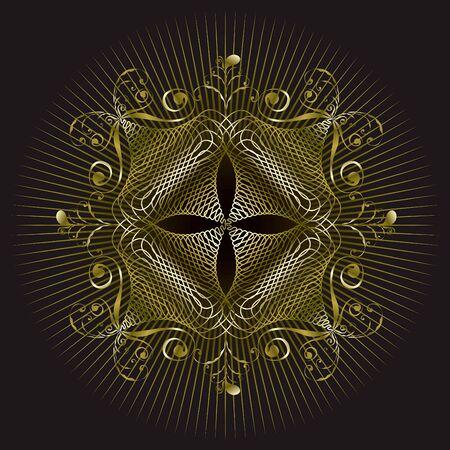 rococo: gold emblem seal design