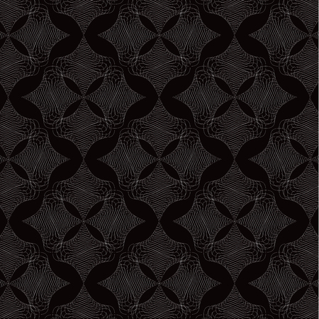 white twist diamond lace pattern on black Vector