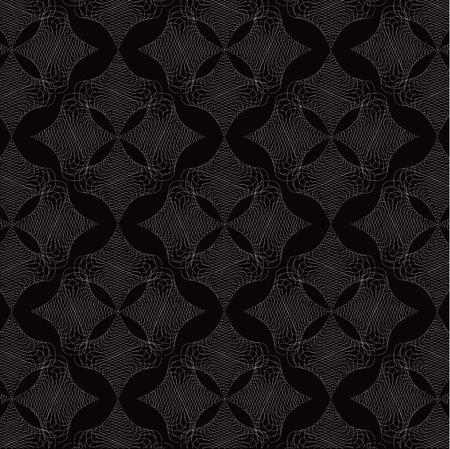 twist: white twist diamond lace pattern on black