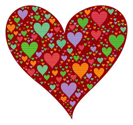 color pop valentine heart