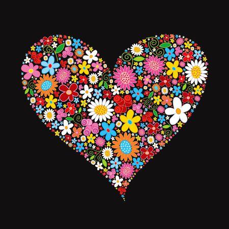 Printemps fleur coeur Valentine