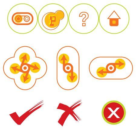 boutons web jaune et rouge 10  Illustration