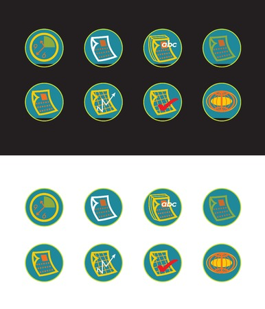 16 green web buttons Stock Vector - 1828334