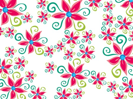 funky groovy flower daisy pattern on white Stock Vector - 1815917