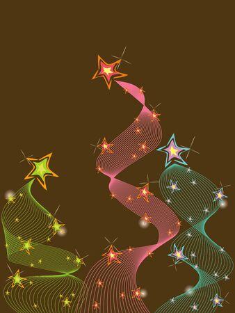 3 pastel glittering stars twist