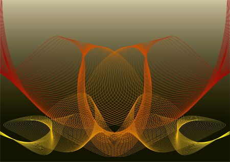 abstract yellow red twist mesh Stock Vector - 1815907