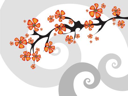 stylize: fusieprogramma tropische bloemen abstract