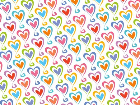 retro color party hearts pattern Vector