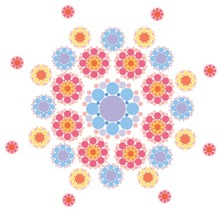sweet pink and purple lace snowflake Vector